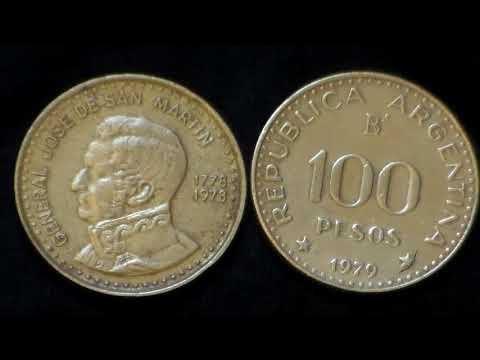 100 Pesos Argentinos 1978/79 - Birth of José de San Martin: Mauro C.de Jesus.