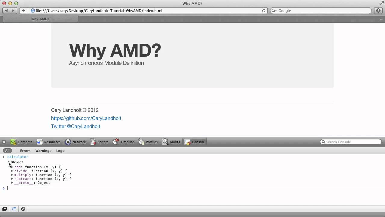 RequireJS part 1: the AMD pattern, and basic module