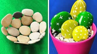 20 CUTE CRAFTS WITH STONES
