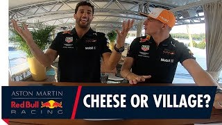 Formaggio o Villaggio? Max Verstappen and Daniel Ricciardo play a cheesy game!