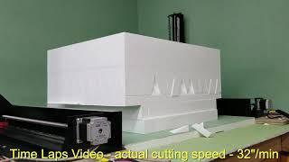 FC3618 CNC foam cutter - cutting acoustic  insulation