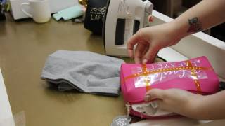 How to use use Heat Transfer Vinyl on Pleather Cosmetic bags - Demo