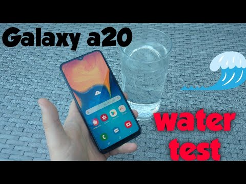 SAMSUNG Galaxy A20 Water Test ? Water Proof?