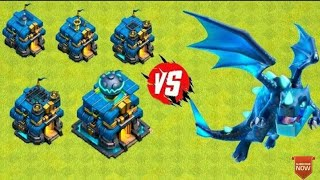 Max Electro Dragon VS All Level TownHall 12 Weapons | Clash of Clans Epic Battle