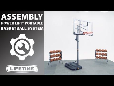 Lifetime Power Lift Portable Basketball System | Lifetime Assembly Video