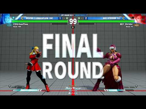SFV: Silver|UrbanFlow vs 801Strider - CPTO North America 3 Grand Finals - CPT2017