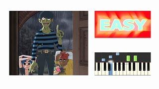 Gorillaz - Saturnz Barz (Spirit House) - EASY Piano Tutorial - (Synthesia)