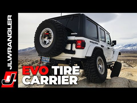 Jeep JL Wrangler EVO Tire Carrier Installation
