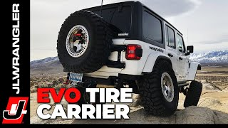 Jeep JL Wrangler EVO Tire Carrier Installation