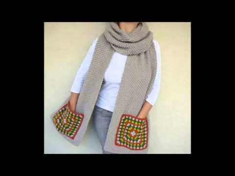 Crochet Pocket Scarf Youtube