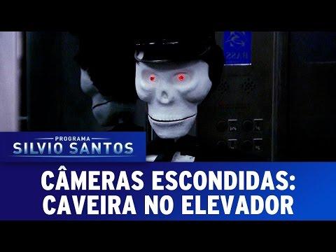 Caveira no Elevador | Skeleton in a Elevator Prank - Câmeras Escondidas (07/05/17)