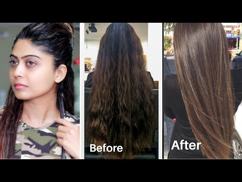 Permanent Hair Straightening At Home | Using Natural Ingredients | Silky and Soft Hair Instant