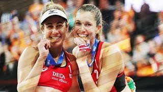 Klineman MASSIVE BLOCK over Carol • The Hague 4 Star 2018 • Beach Volleyball World