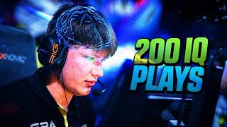 CS:GO - BEST PRO 200 IQ PLAYS! (CLEVER & INTELLIGENT PLAYS)