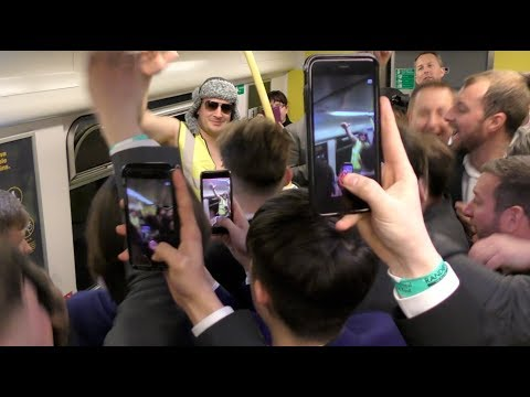 THE ULTIMATE TRAIN CARRIAGE PARTY *Aintree Race-goers went wild*