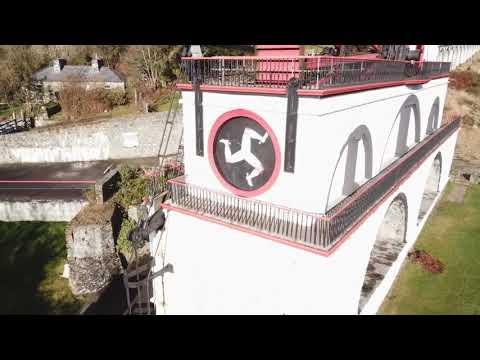 DJI Mavic Pro 4K footage.  Laxey Wheel. (Isle of Man.)