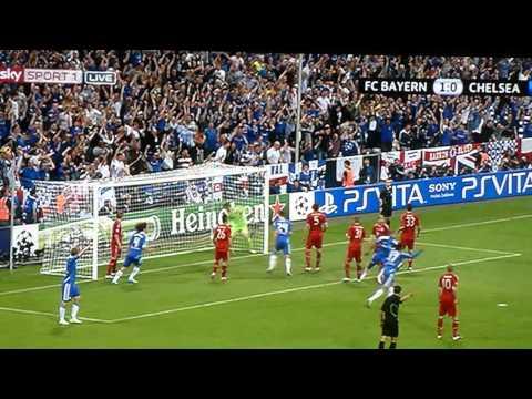 Didier Drogba's goal in Champions League Final 2012 in Munich.