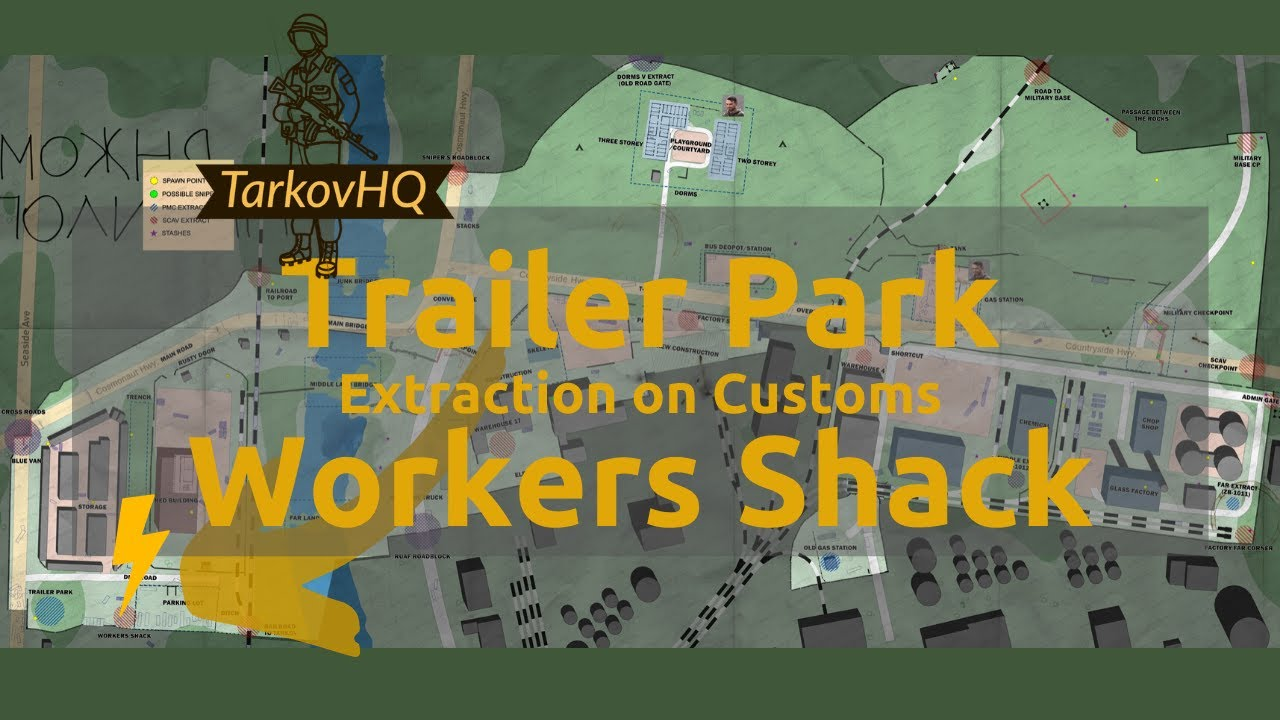 Trailer Park Workers Shack Extraction Customs Escape From Tarkov Youtube