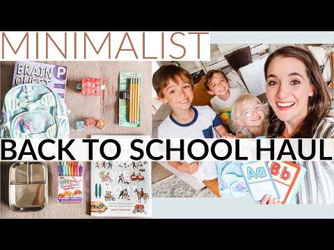 MINIMALIST School Supplies Haul + 200K Subscriber GIVEAWAY! Home School Preschool Pre-K Kindergarten