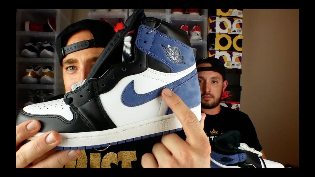 48e47f614e69 Shoe Palace is the worst!! + Jordan 1 Blue Moon Review   On Feet ...