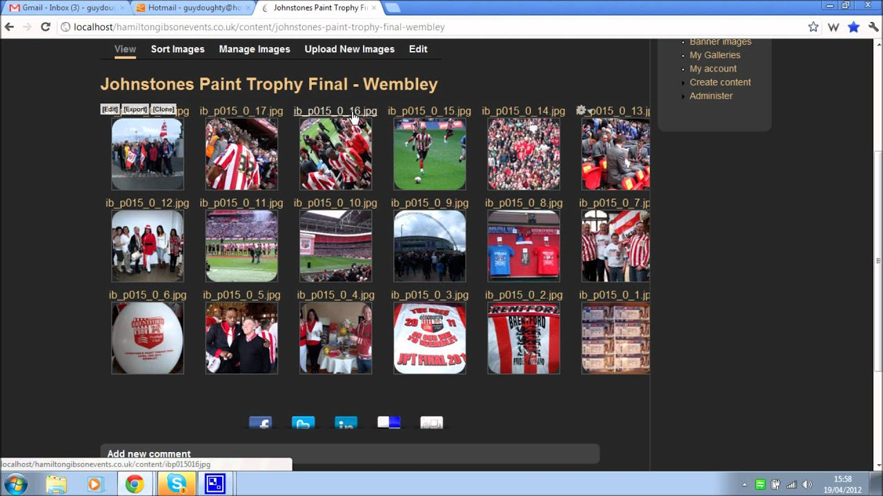 Adding a new Drupal photo gallery using Node Gallery - YouTube