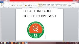 Local Fund Audit stopped by government of KPK