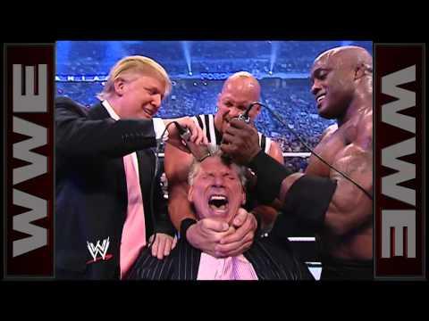 Donald Trump en una pelea de lucha libre
