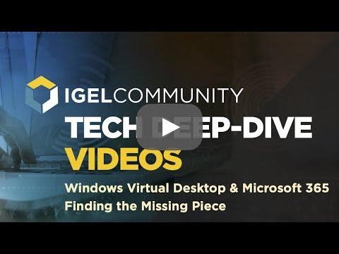 Windows Virtual Desktop (WVD)  Microsoft 365 - Finding the Missing