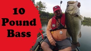 10 Pound Bass Caught from a Hobie Kayak