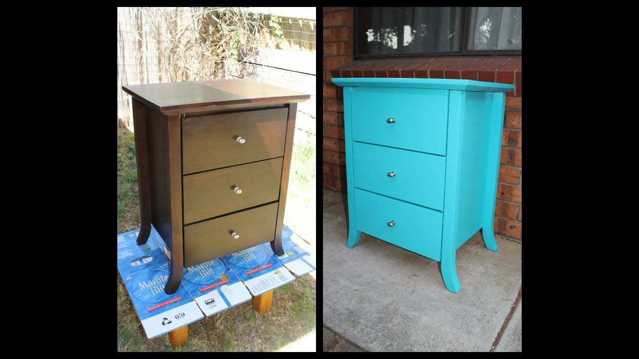 Home diy how to paint old furniture youtube How to spray paint wood furniture