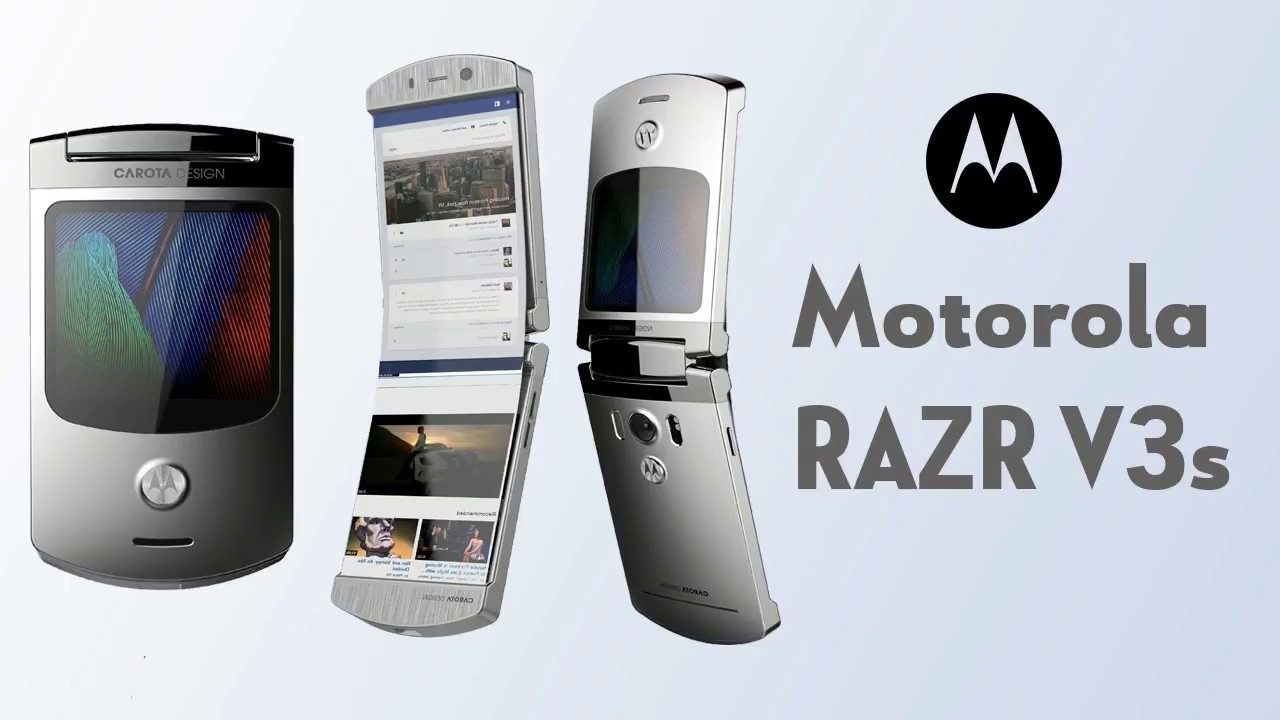 Motorola RAZR V3s (2018) Motorola's Resurrection! Clamshell Phone with Foldable Display - YouTube