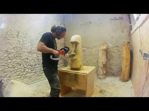 Moai 1 By Chainsaw Carvings Schnaitmann _ Kettensägenkunst Sven Schnaitmann