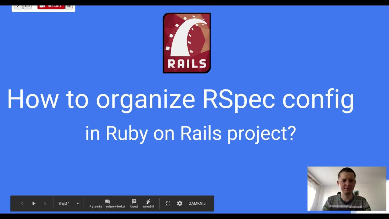 Clean RSpec configuration directory structure for Ruby on Rails gems