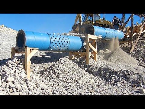 Plastic Drum Trommel Screen Rock Separator