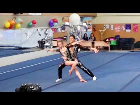 силовая акробатика смешанные пары наоборот видео