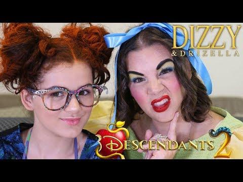 Descendants 2 Dizzy & Drizella Tremaine Makeup, Hair, & Costume DIY! Halloween!
