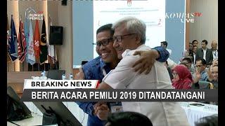 Momen TKN Jokowi-Ma'ruf dan BPN Prabowo-Sandi Berpelukan Usai Penetapan Hasil Pilpres