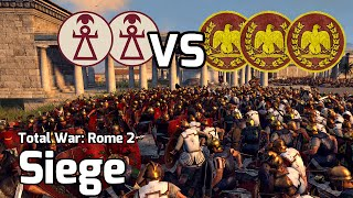 Total War: Rome 2 Online Battle #17 (2v3 Siege) - Siege of Carthage