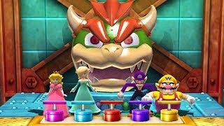 Mario Party The Top 100 MiniGames - Peach Vs Rosalina Vs Wario Vs Waluigi (Master Difficulty)