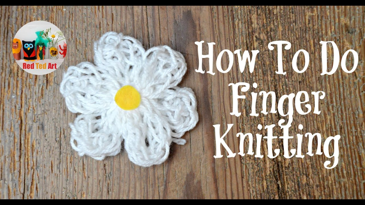 knitting craft ideas how to do finger knitting 2296