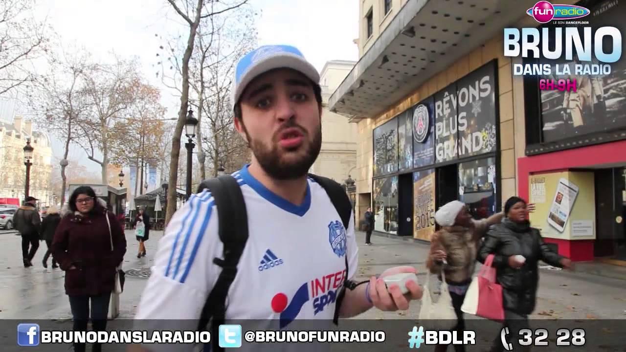 Elliot en Marseillais dans la boutique du PSG - Bruno dans la Radio -  YouTube 540eada4104