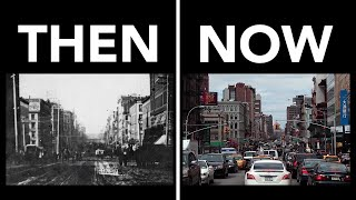 New York Now and Then: 1870s & 1880s vs 2010s (See Description for Better/Slower Side-by-Side Video)