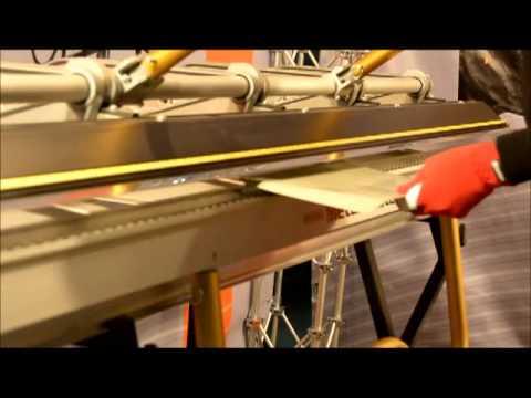 Как согнуть сложный наружный угол на листогибе Van Mark