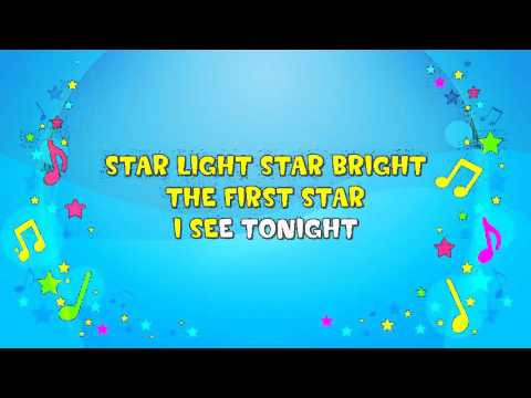 Star Light, Star Bright | Sing A Long | Lullaby | Bedtime Song | Nursery Rhyme | KiddieOK