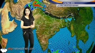 31-03-2015 Skymet Weather Report for India