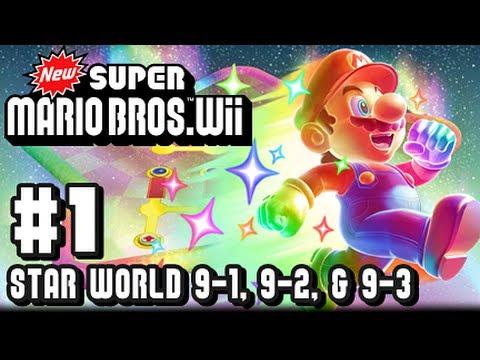 New Super Mario Bros Wii - Star World - Part 1 - World 9-1, 9-2, & 9-3