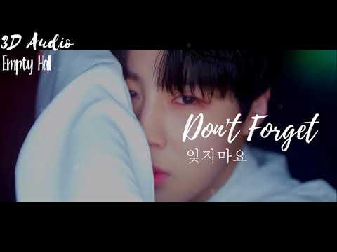 Free Download 잊지마요 (don't Forget) ~ Ha Sungwoon (ft. Park Jihoon) [3d Audio/empty Hall] Mp3 dan Mp4