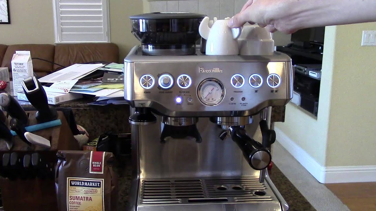 how to make esspresso using a breville