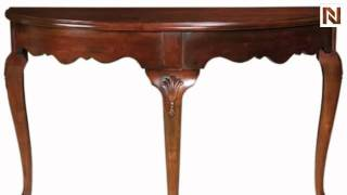 Kincaid 60-025 Carriage House Demi Lune Console Table