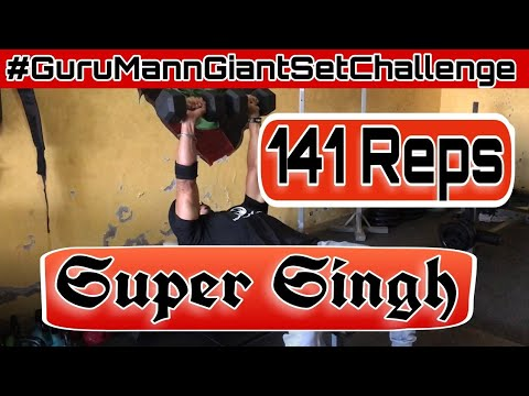 Guru Mann Giant Set Challenge | 141 Reps | Super Singh | Final Week | #GuruMannGiantSetChallenge